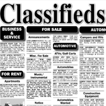 Picture of Classified Notice type ad