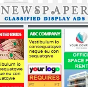 Picture of Classified Display Notice type ad with photo